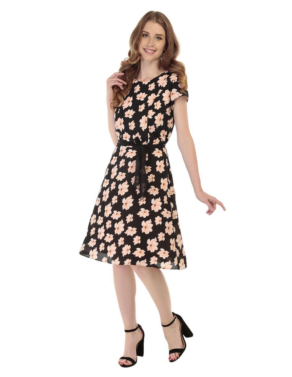 Vestido floral Perfil rosa b09d9e14fca6a